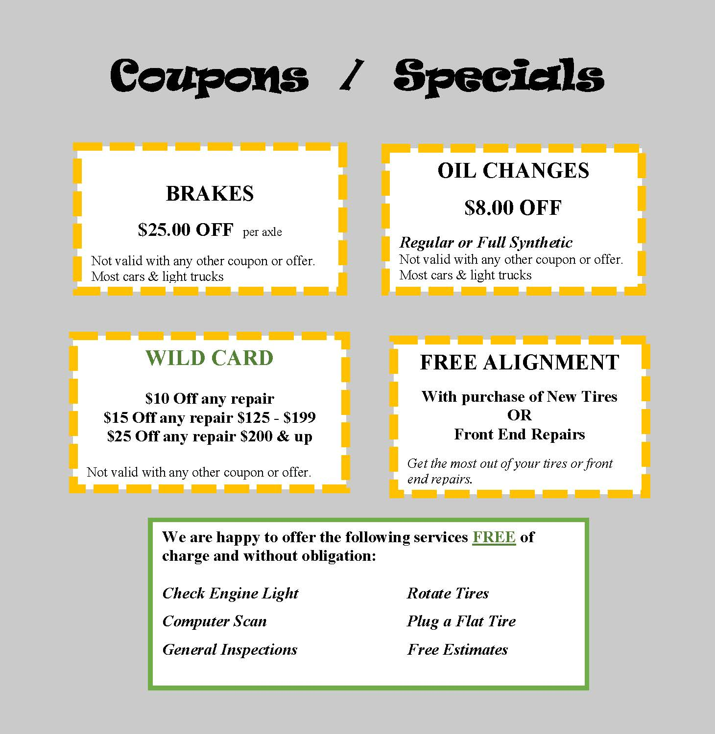 Coupons for Web